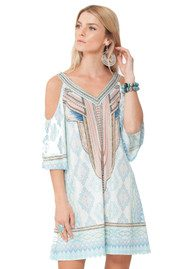 Hale Bob Oldina Jersey Dress - Ice Blue