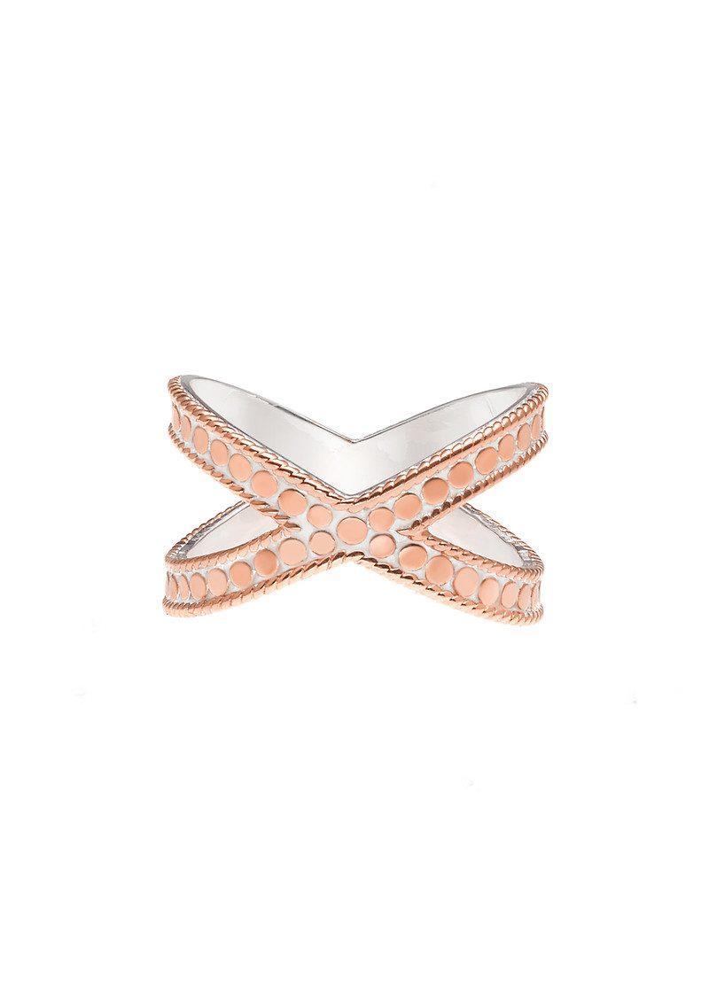 ANNA BECK Cross Ring - Rose Gold main image
