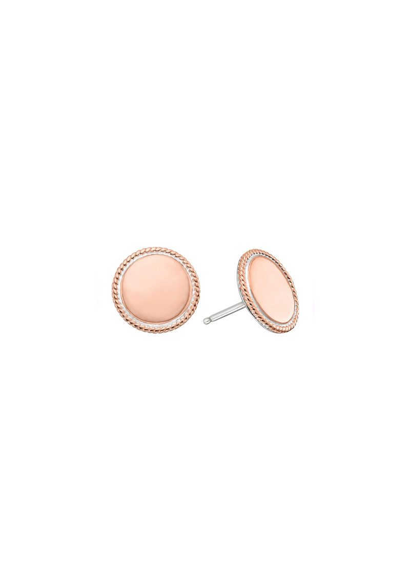 Limited Edition Circle Stud Earrings - Rose Gold main image