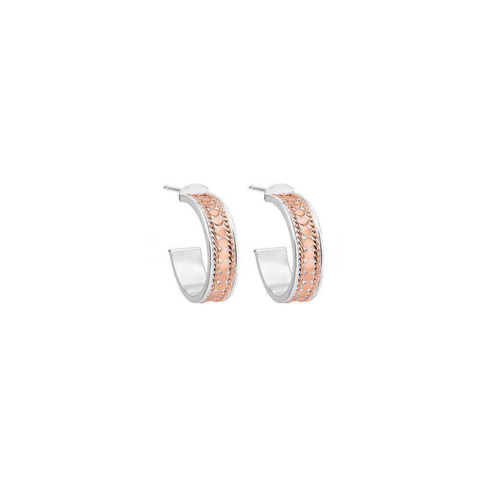 Hoop Post Earrings - Rose Gold