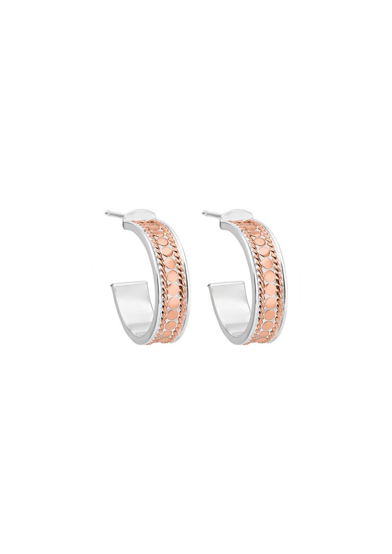 Hoop Post Earrings - Rose Gold main image