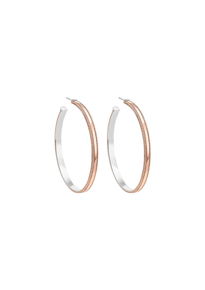 ANNA BECK Large Hoops - Rose Gold main image