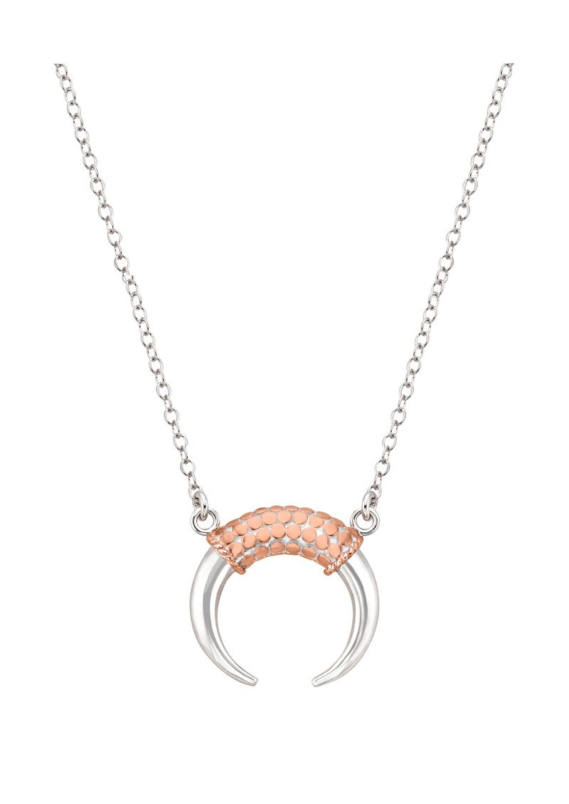 ANNA BECK Horn Necklace - Rose Gold & Silver main image