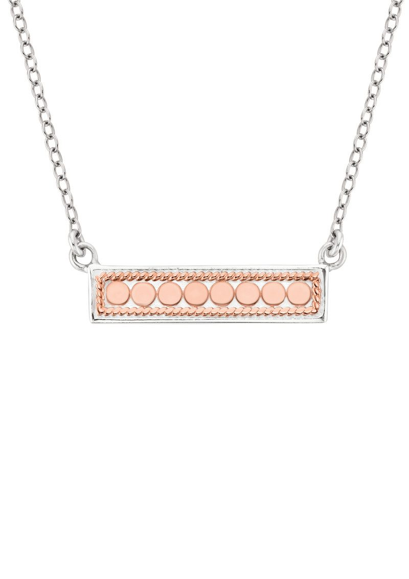 ANNA BECK Reversible Bar Necklace - Rose Gold & Silver main image