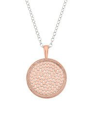 ANNA BECK Reversible Beaded Necklace - Rose Gold & Silver