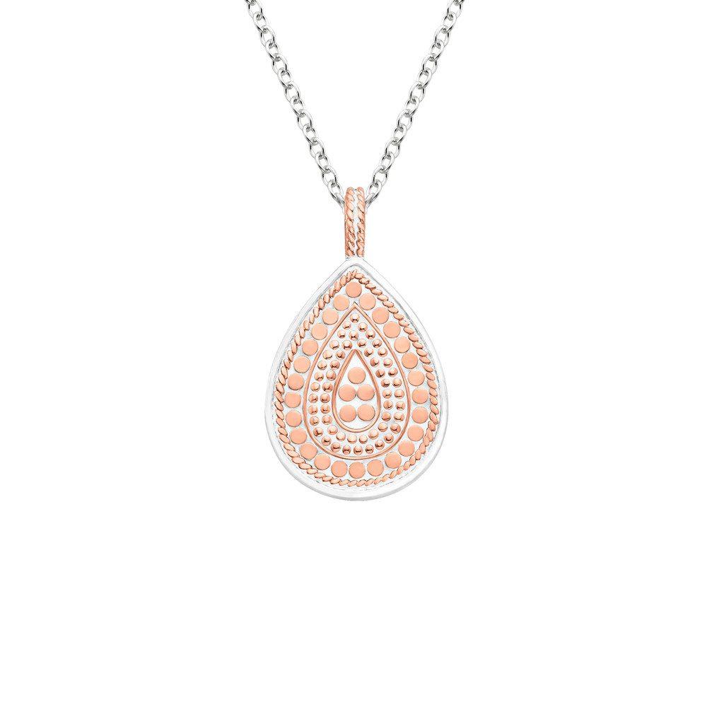 Reversible Mini Teardrop Necklace - Rose Gold & Silver