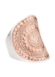 ANNA BECK Beaded Saddle Ring - Rose Gold
