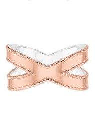 ANNA BECK Limited Edition Cross Ring - Rose Gold