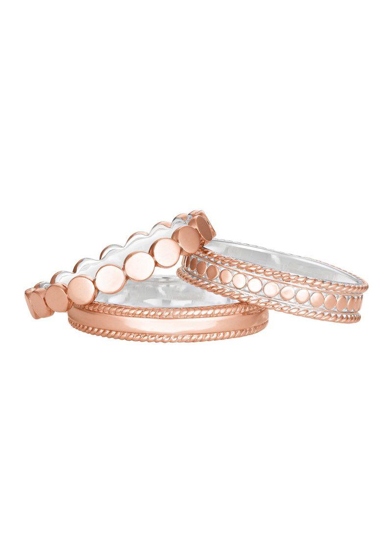 ANNA BECK Set of 3 Rings - Rose Gold main image