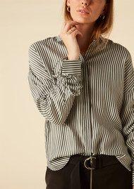 Twist and Tango Sandy Striped Blouse - Grey & White