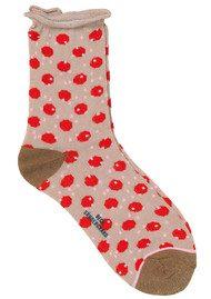 Becksondergaard Dory Unruly Dot Socks - Hot Coral