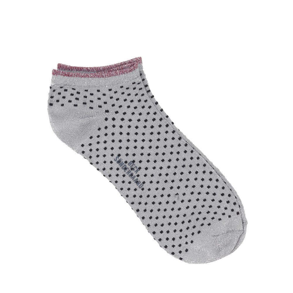 Dollie Dot Socks - Grey Melange