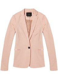 Maison Scotch Zip Tailored Blazer - Blush