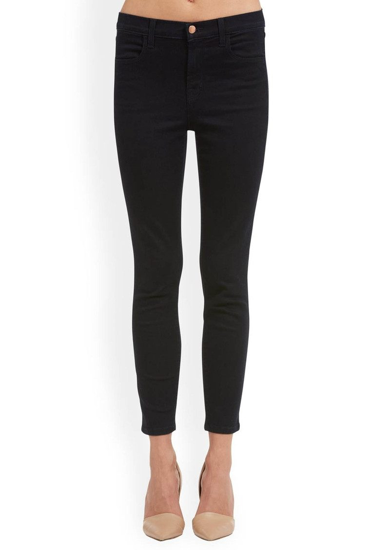 J Brand Alana High Rise Cropped Super Skinny Jeans - Bluebird main image