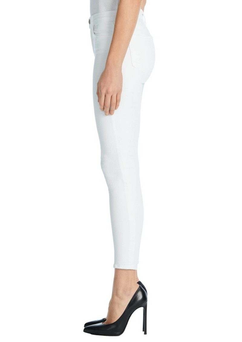 J Brand Alana High Rise Cropped Super Skinny Jeans - White main image