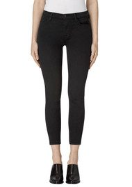 J Brand Alana High Rise Cropped Super Skinny Jeans - Seriously Black