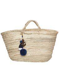 ASHIANA Straw Basket - Navy Anchor