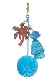 ASHIANA Straw Basket - Blue Palm Tree