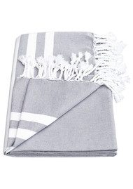 HAMMAMHAVLU Esra Plage Prive Towel - Smoke Grey