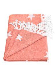 HAMMAMHAVLU Yildiz Star Towel - Neon Coral