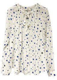 Pyrus Annie Long Sleeve Blouse - Stars Cobalt