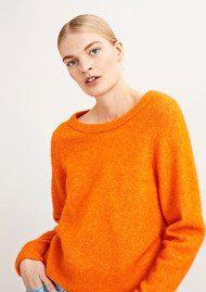 SAMSOE & SAMSOE Nor O-N Short Sweater - Puffin Melange