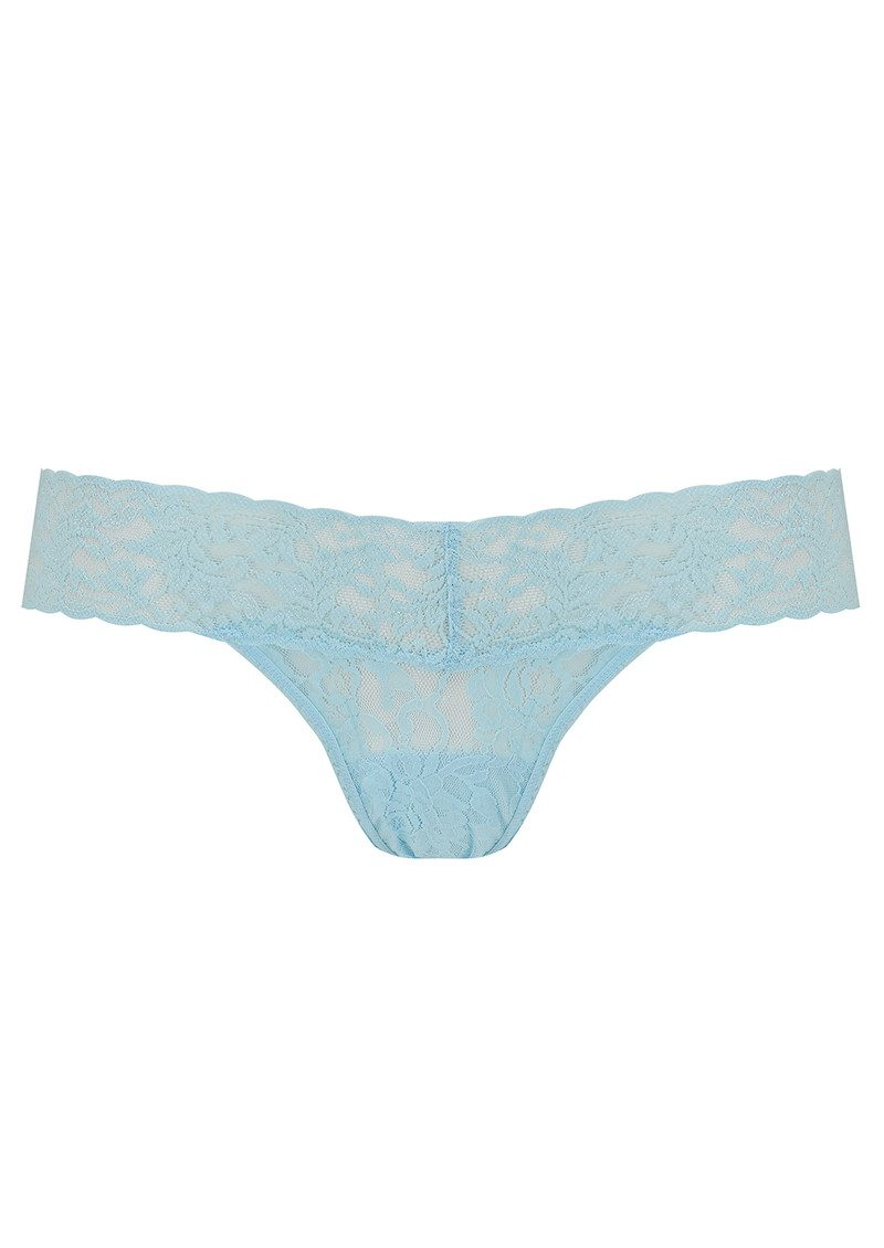 Hanky Panky SIGNATURE ROLLED LACE THONG - Celeste Blue main image