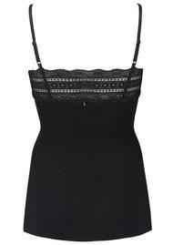 Rosemunde Wide Lace Strap Top - Black