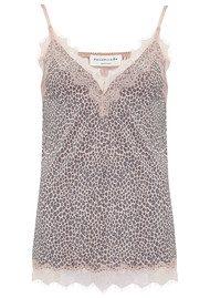 Rosemunde Vintage Lace Strap Top - Rose Leopard