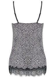 Rosemunde Vintage Lace Strap Top - Black Leopard