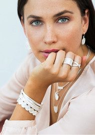 ANNA BECK Beaded Cuff - Silver
