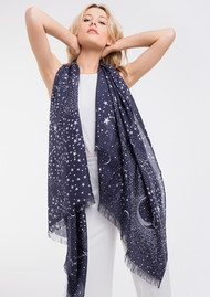 Lily and Lionel Luna Silk Scarf - Navy