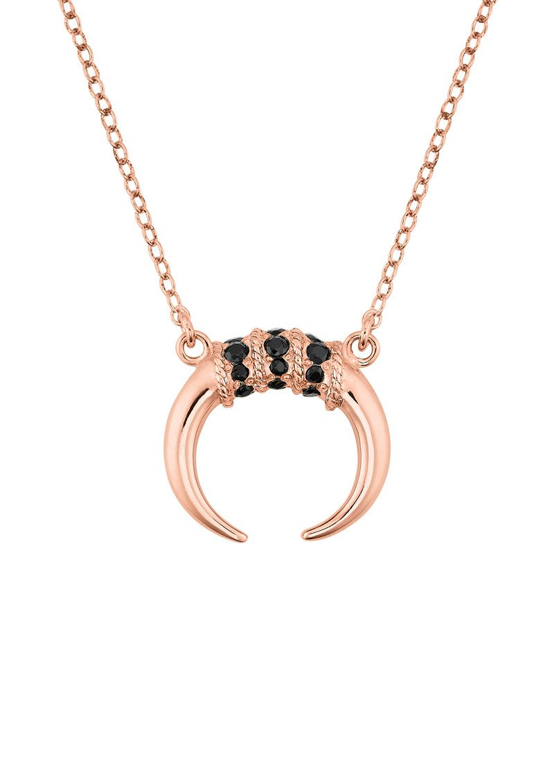 ANNA BECK Horn Necklace - Rose Gold & Black Onyx main image