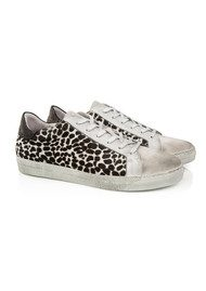 AIR & GRACE Cru Trainer - Monochrome Dotty Print