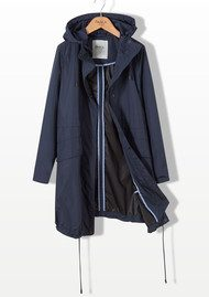 PARKA LONDON Sienna Essential Parka Jacket - Navy