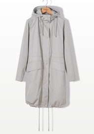PARKA LONDON Sienna Essential Parka Jacket - Pebble
