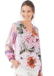 Hale Bob Garynn Floral Blouse - Lavender