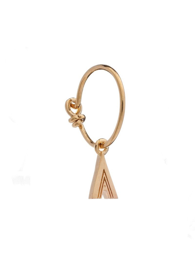 RACHEL JACKSON This is Me Gold Mini Hoop Earring - Letter A main image