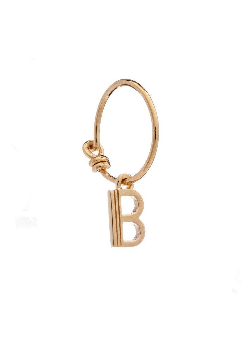 RACHEL JACKSON This is Me Gold Mini Hoop Earring - Letter B main image