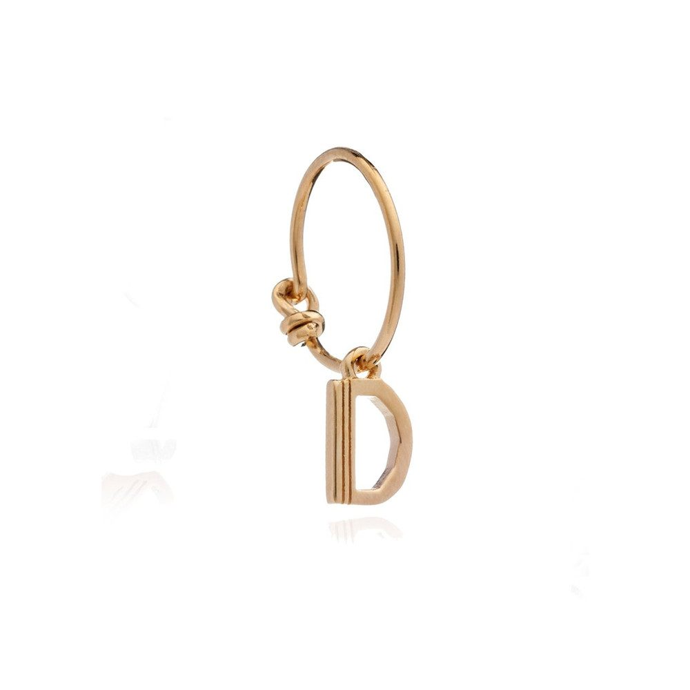 This is Me Gold Mini Hoop Earring - Letter D