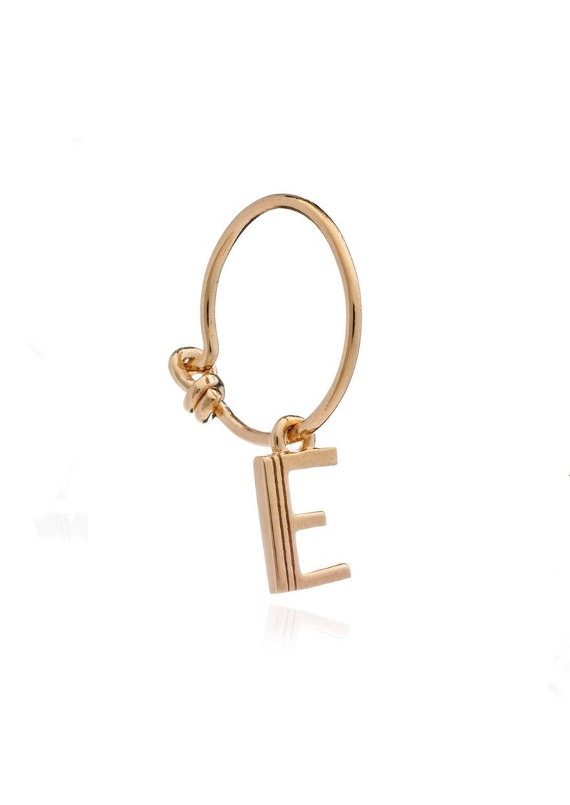 This is Me Gold Mini Hoop Earring - Letter E main image