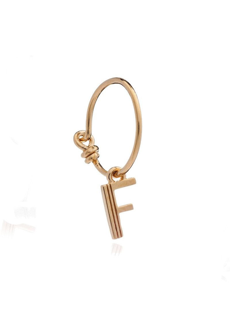 RACHEL JACKSON This is Me Gold Mini Hoop Earring - Letter F main image
