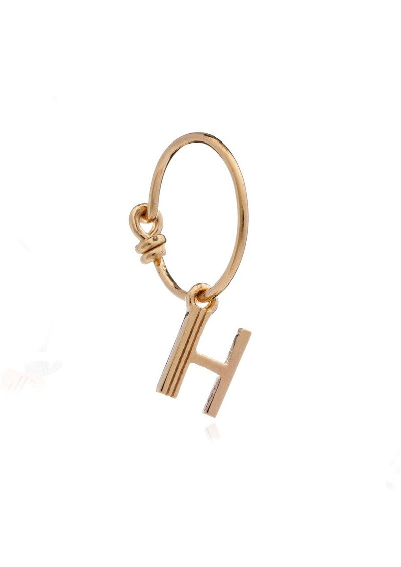 RACHEL JACKSON This is Me Gold Mini Hoop Earring - Letter H main image