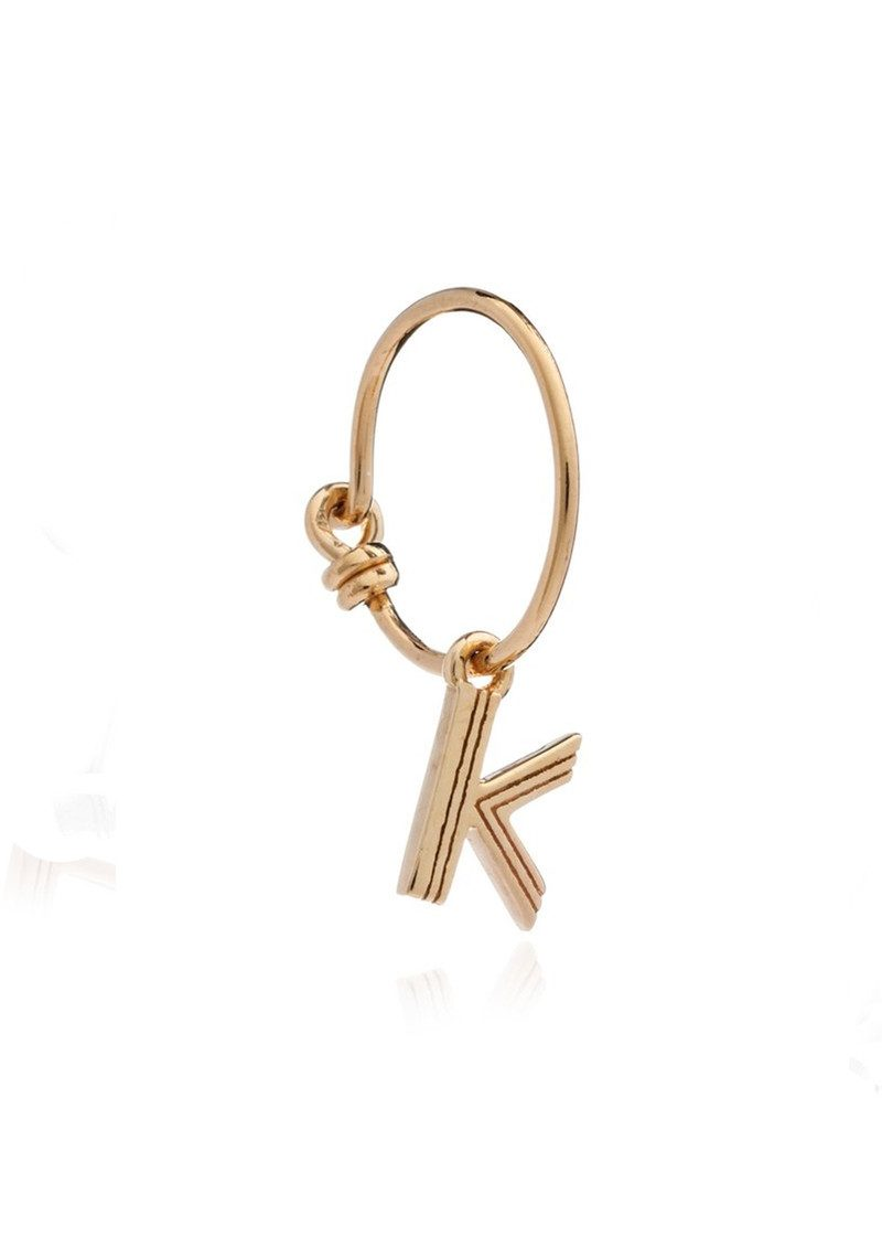 RACHEL JACKSON This is Me Gold Mini Hoop Earring - Letter K main image