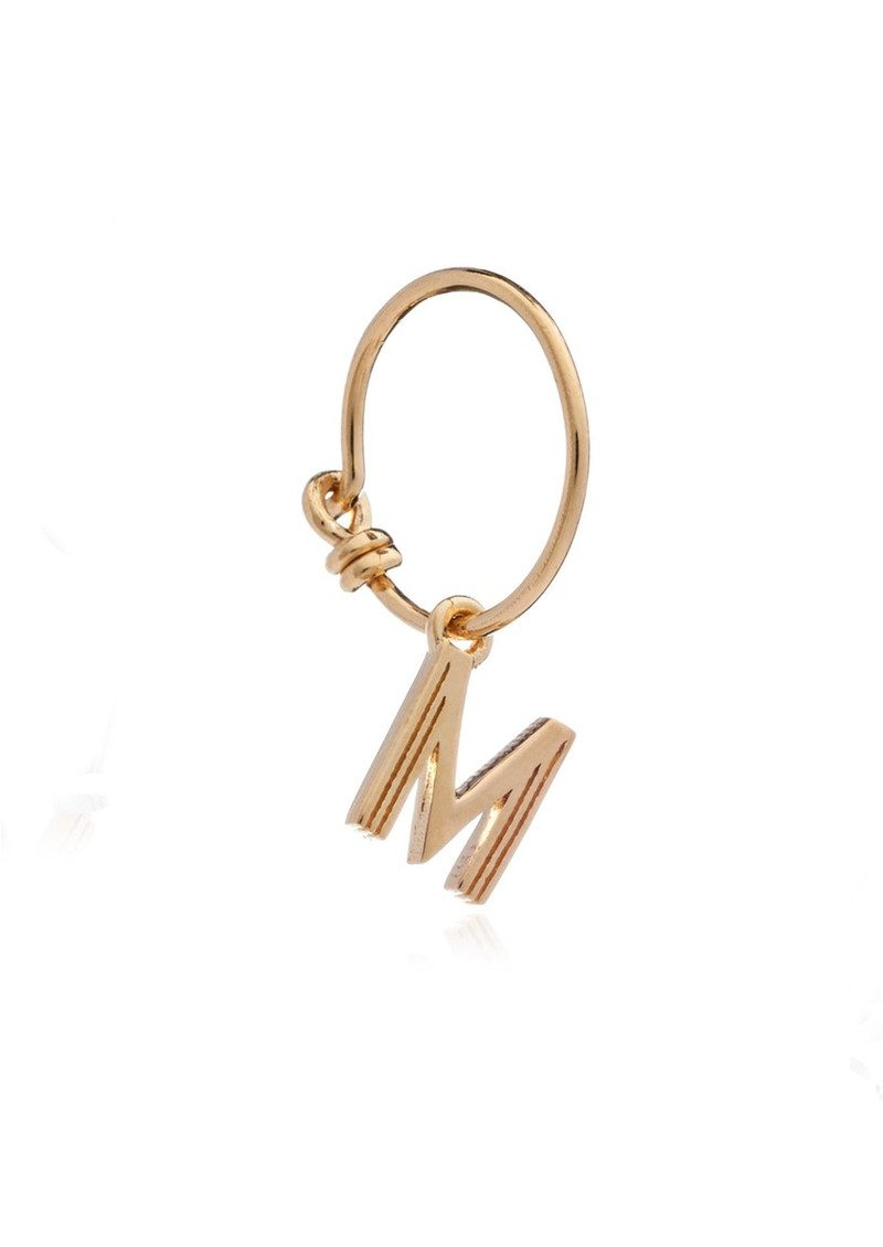 RACHEL JACKSON This is Me Gold Mini Hoop Earring - Letter M main image