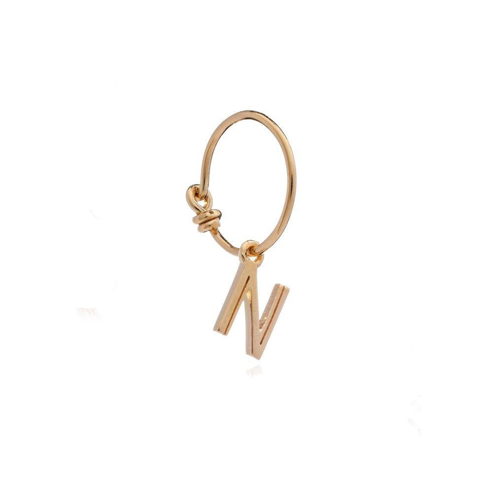This is Me Gold Mini Hoop Earring - Letter N