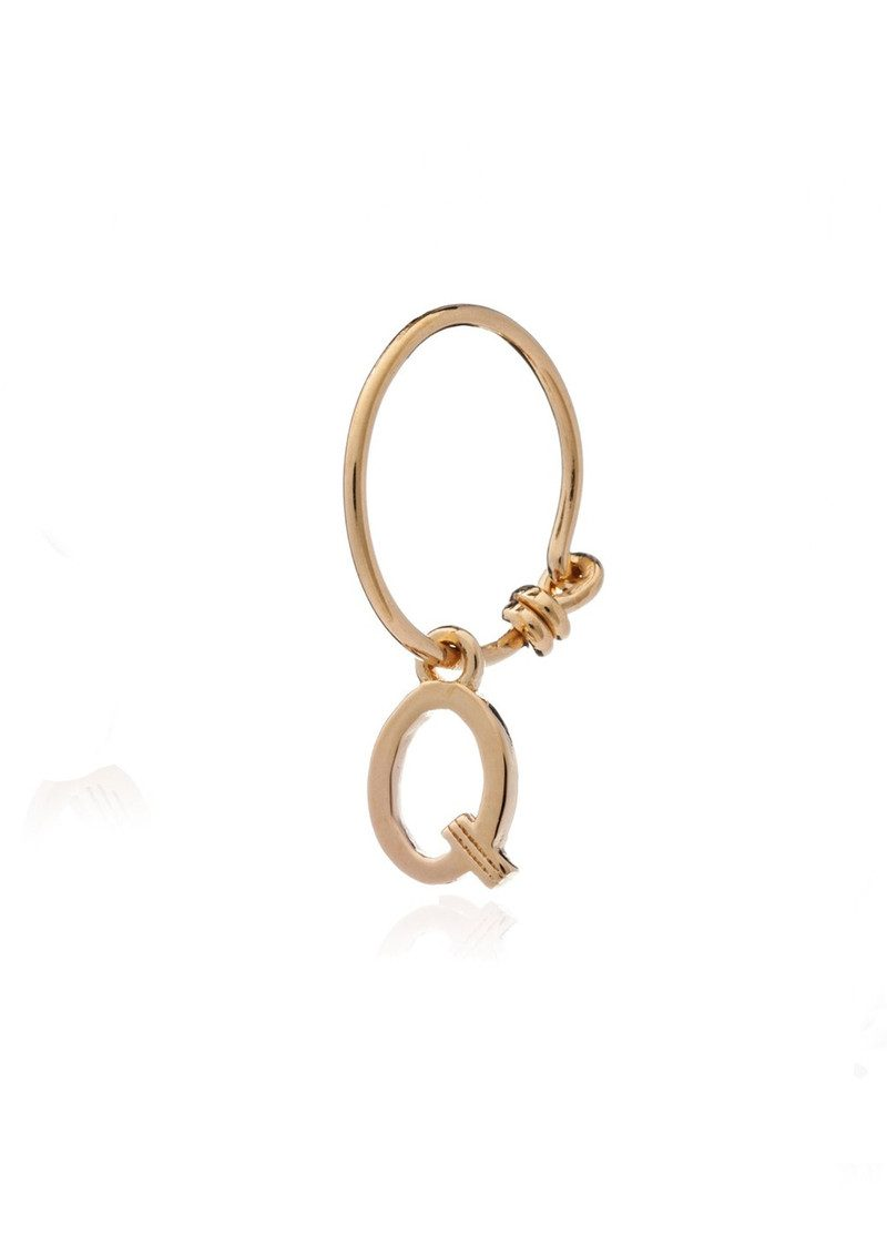 RACHEL JACKSON This is Me Gold Mini Hoop Earring - Letter Q main image