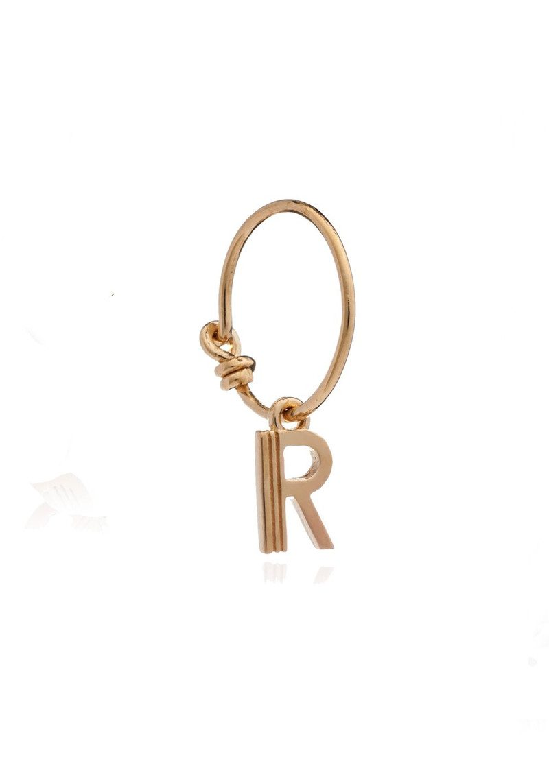 RACHEL JACKSON This is Me Gold Mini Hoop Earring - Letter R main image