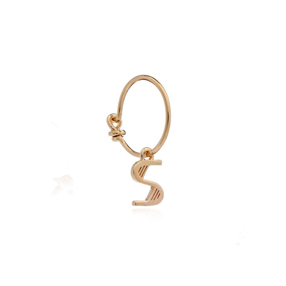 This is Me Gold Mini Hoop Earring - Letter S