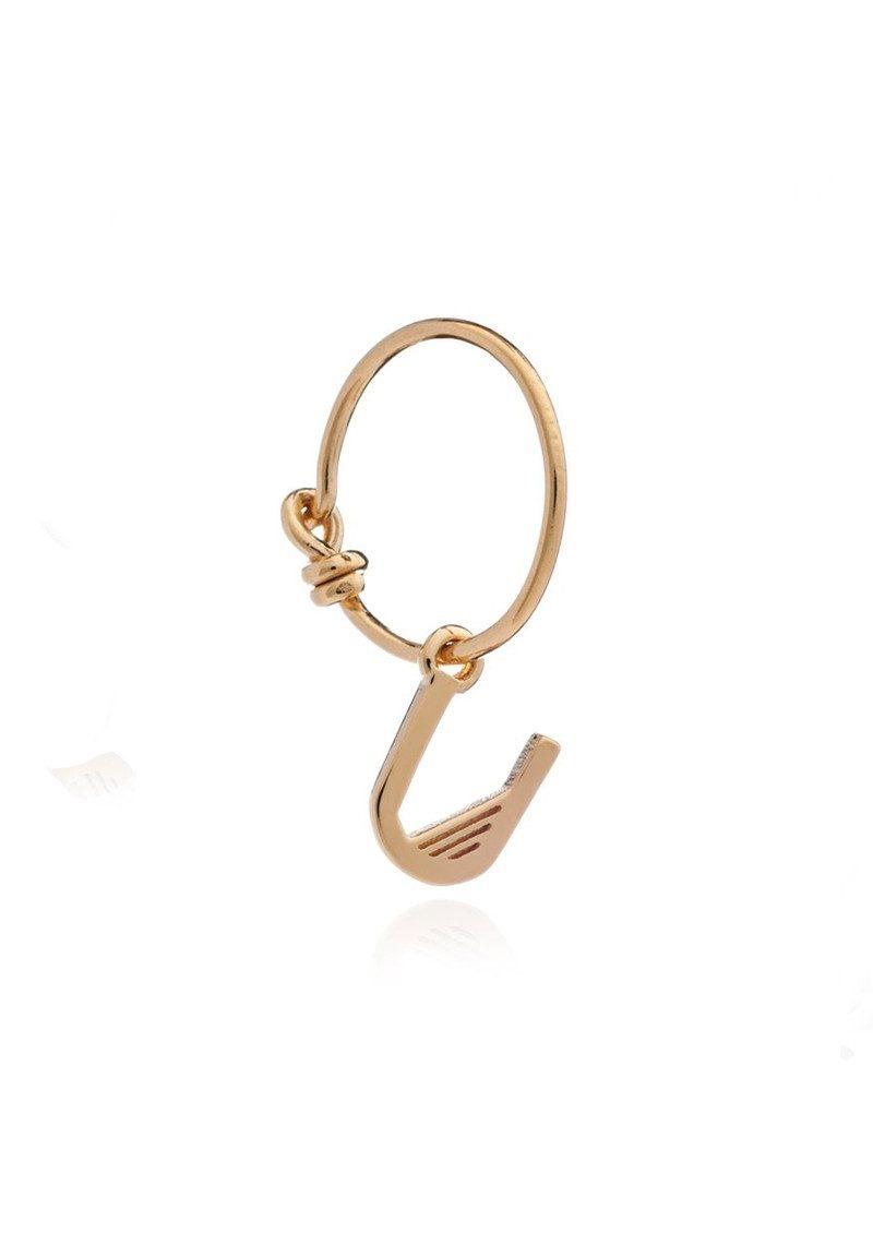 RACHEL JACKSON This is Me Gold Mini Hoop Earring - Letter U main image